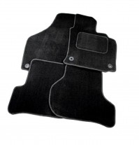 Mitsubishi L200 Club Cab (2dr) - 2006 Full Set Of 4 Black Velour Custom Exact Fit Car Carpet Floor Mats Twist-n-Turn Fixings By AoE PerformanceTM