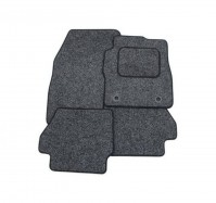 Mahindra XUV500 2012 - Onwards Full Set Of 3 Anthracite Velour Custom Exact Fit Car Carpet Floor Mats Push-n-Click Fixings By AoE PerformanceTM
