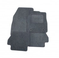 Fiat Punto Grande 2006 - Onwards Full Set Of 4 Grey Velour Custom Exact Fit Car Carpet Floor Mats Twist-n-Turn Fixings By AoE PerformanceTM