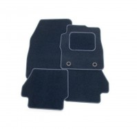 Fiat 500 2007 - 2012 Full Set Of 4 Dark Navy Blue Velour Custom Exact Fit Car Carpet Floor Mats Twist-n-Turn Fixings By AoE PerformanceTM