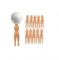 Nude Ladies Golf Tees Pack Of 10 Nuddie Naked Golfers Balls Gift