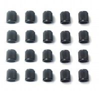 20 x Black Plastic Dust Valve Caps Bike Car Tyre Van Covers Seal Air Motorcycle