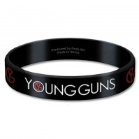 Young Guns Black Wristband Gummy Rubber Bracelet Band Logo Name 100% Official