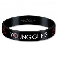 Young Guns Black Wristband Gummy Rubber Bracelet Band Logo Name 100% Official