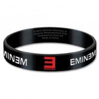 Eminem Black Wristband Gummy Rubber Bracelet Band Logo Name Gift 100% Official