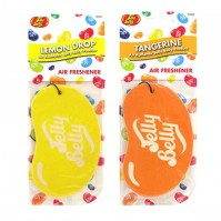 Jelly Belly Duo Pack 2D Bean Car Air Freshener Lemon Drop And Orange Tangerine