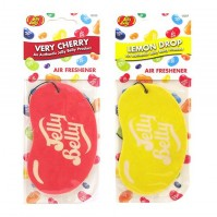 Jelly Belly Duo Pack 2D Bean Sweets Car Air Freshener Very Cherry + Lemon Drop
