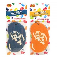 Jelly Belly Duo Pack 2D Bean Car Air Freshener Blueberry And Orange Tangerine