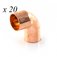 20 x Copper End Feed Street Elbow 90° 15mm M x F Fitting Plumbing Joining Pipe