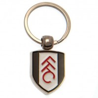 Fulham Football Club Official Metal Crest Key Ring Chain Charm Badge Fan FFC