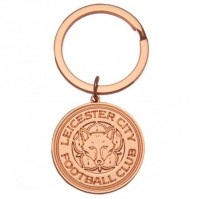 Leicester City Football Club Official Rose Gold Plated Metal Key Ring Chain Charm