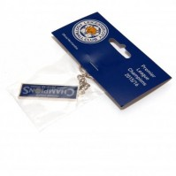 Leicester City Football Club Official Champions Rectangle Metal Key Ring Chain