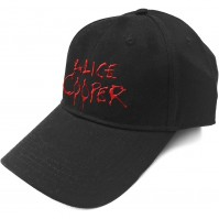 Alice Cooper Official 3D Embroidered Dripping Logo Black Cap Hat Mens Ladies