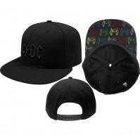 AC/DC Official Canon Pop-Art Black Snapback Baseball Cap Hat Angus Hard Rock