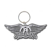 Aerosmith Wings Crest Band Logo Metal Keychain Keyring Steve Tyler Gift Official