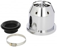 Car Engine Air Filter Universal Service Multi Fit Chrome Silver Race Sport Cone