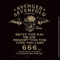 Avenged Sevenfold Sieze The Day Single Cork Coaster Drinks Music Band Official Merchandise