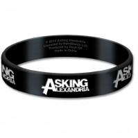 Asking Alexandria Official Black Silicone Gummy Wristband Logo Band Rock
