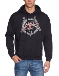 Slayer Pentagram Mens Black Pullover Hoodie Official Thrash Metal Rock Band
