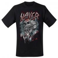 Slayer Men's Black Short Sleeved T-Shirt Demon Storm Rock Band Official