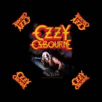 Ozzy Osbourne Official Bark at the Moon Black Bandana Rock Band Music Kerchief