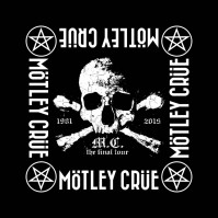Motley Crue Official The Final Tour Black Bandana Rock Band Music Kerchief