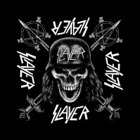 Slayer Wehrmacht Official Black Bandana Rock Band Music Kerchief Head
