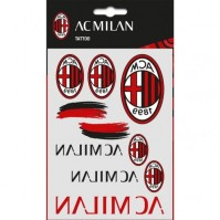 AC Milan Football Club Official 10 Assorted Temporary Tattoo Pack Crest Badge