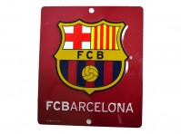 FC Barcelona Football Club Hanging Metal Window Sign Maroon Crest Badge Official
