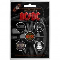 AC DC Official For Those About To Rock Pack Of Five Button Badge Pin Rock Band