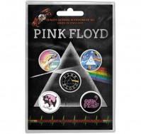 Pink Floyd Button Badge Pack Of 5 Prism Design Motif Band Music Official Product