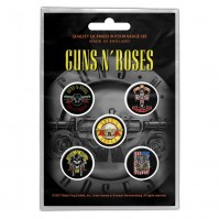 Guns N' Roses Official News of the World Pack Of Five Button Badge Pin Rock Band