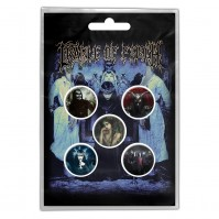 Cradle of Filth Official News of the World Pack Of Five Button Badge Pin Band