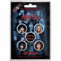 Motley Crue Official Set Of 5 Girls, Girls, Girls Pin Badges Button Heavy Metal