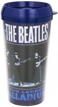 The Beatles Live At The London Palladium Blue Travel Coffee Mug Vacuum Official