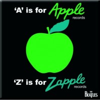 The Beatles Square Metal Fridge Magnet A Is For Apple Green Bright Band Official