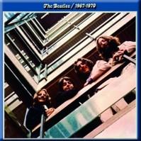 The Beatles Square Metal Fridge Magnet Blue Album design Music Band