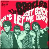 The Beatles Square Metal Fridge Magnet Get Back/Don't Let Me Down (Red)