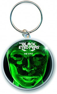 Black Eyed Peas The End Album Cover Metal Keychain Keyring Fan Gift Official