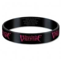 Bullet For My Valentine Black Wristband Gummy Rubber Bracelet Band Logo Official
