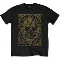 Bullet For My Valentine BFMV Mens Small T-Shirt Tee Black Venom Skull Official