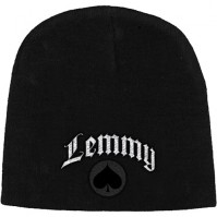 Motorhead Lemmy Ace of Space Official Black Beanie Hat Band Logo Mens Ladies