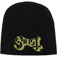 Ghost Logo Rock Heavy Metal Official Black Beanie Hat Band Logo Mens Ladies