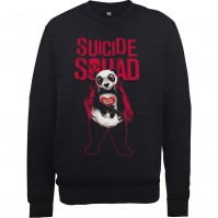Suicide Squad Panda Man Design Mens Black Sweatshirt Jumper Joker DC Comics