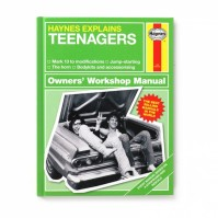 Haynes Manual Teenagers Book Textbook Parody Father Mother Child Gift Hardback