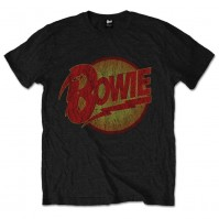 David Bowie Diamond Dogs Vintage Official Mens Black Short Sleeve T-Shirt Retro