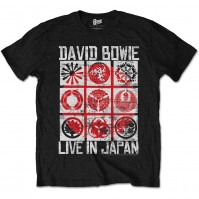 David Bowie Live In Japan Official Mens Black T-Shirt Ziggy Flash Retro Vintage
