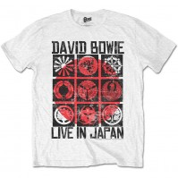 David Bowie Live In Japan Official Mens White T-Shirt Ziggy Flash Retro Vintage