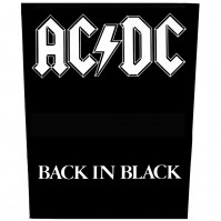 ACDC Official Back In Black Sew On Back Patch Logo Band Badge Retro