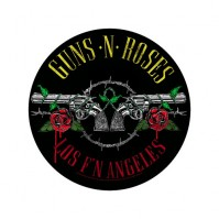 Guns N' Roses Los F'N Angeles Round Back Patch Sew On Official Badge Band Rock